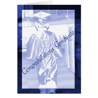 Carte de voeux d'obtention du diplôme de