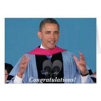 Carte de voeux d'obtention du diplôme de Barack