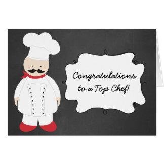 Carte de voeux d'obtention du diplôme de cuisinier