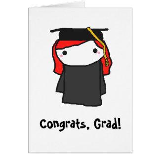 Carte de voeux d'obtention du diplôme de fille de