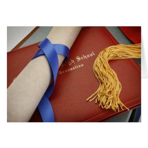 Carte de voeux d'obtention d'un diplôme d'études s