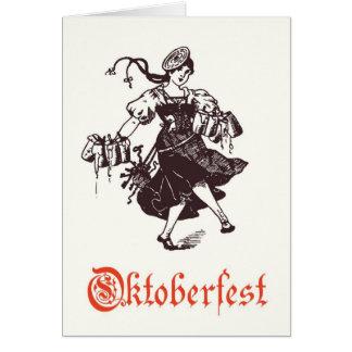 Carte de voeux d'Oktoberfest