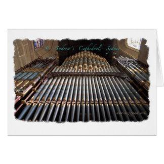 Carte de voeux d'organe de tuyau de cathédrale de