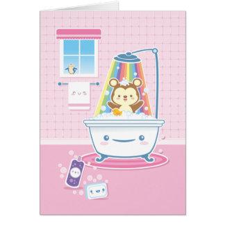 Carte de voeux d'ours de Bathtime