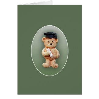 Carte de voeux d'ours de nounours d'obtention du d