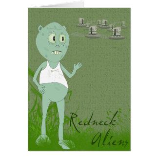 Carte de voeux drôle d'aliens de plouc