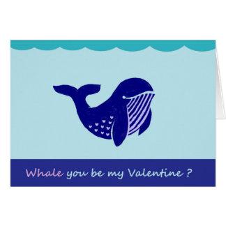 Carte de voeux drôle de baleine mignonne de