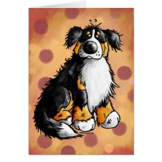 Carte de voeux drôle de bande dessinée de chien de