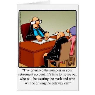 Carte de voeux drôle de Congarulations de retraite