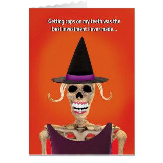Carte de voeux drôle de Halloween pour elle