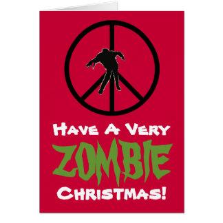 Carte de voeux drôle de Noël de ZOMBI