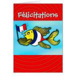 Carte de voeux drôle de poissons français de