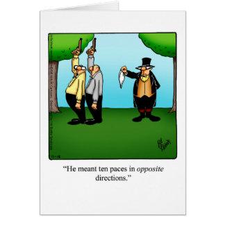 Carte de voeux drôle d'humour d'encouragement