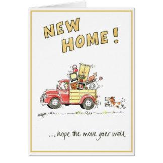 Carte de voeux drôle - nouvelle maison