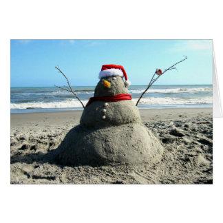 Carte de voeux du bonhomme de neige de la Floride