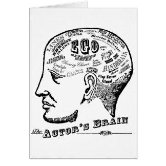 Carte de voeux du cerveau de l'acteur