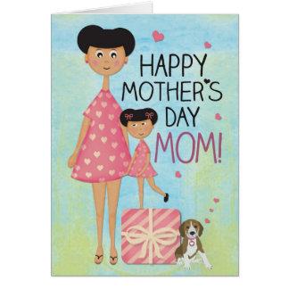 Carte de voeux du jour de mère