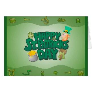 Carte de voeux du jour de St Patrick