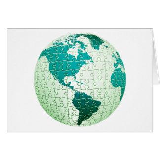 Carte de voeux du monde de casse-tête