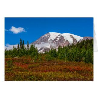 Carte de voeux du mont Rainier