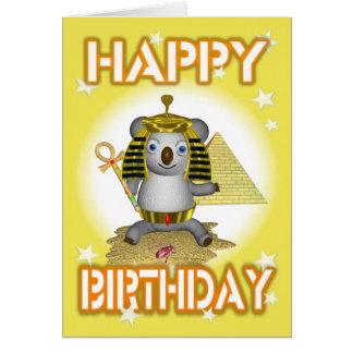 Carte de voeux du Roi Tut de joyeux anniversaire