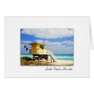Carte de voeux du sud de la Floride de plage