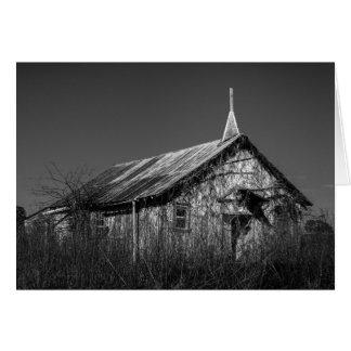 Carte de voeux - église abandonnée de pays du