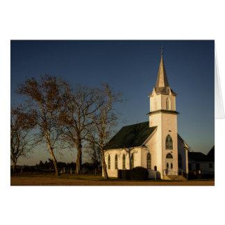 Carte de voeux - église de pays du Texas