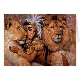 Carte de voeux égyptienne de princesse de déesse