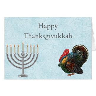 Carte de voeux élégante de Thanksgivukkah