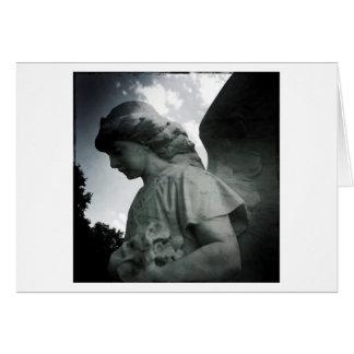 Carte de voeux en pierre de blanc d'ange