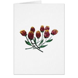 Carte de voeux en tuyau de tulipes - verticale