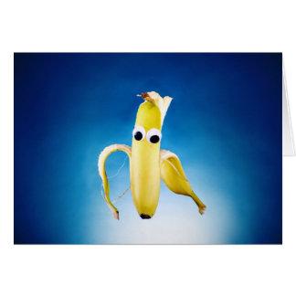 carte de voeux épluchée d'homme de banane