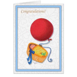 Carte de voeux ethnique de félicitations de bébé