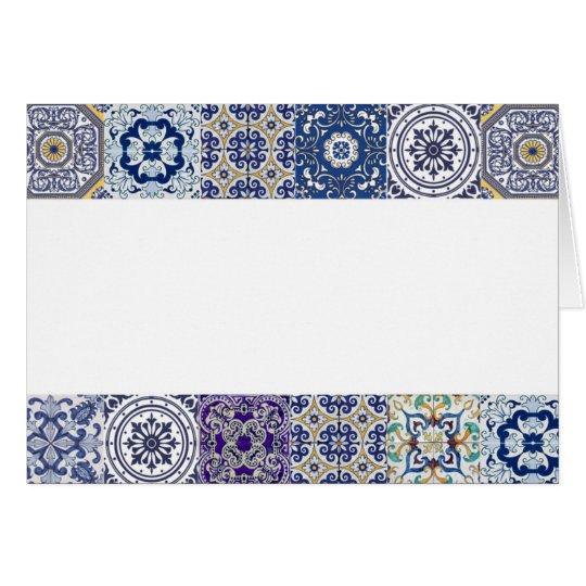 carte de voeux faire-part azulejos