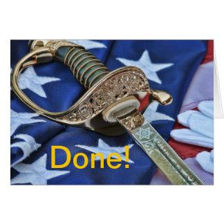 Carte de voeux faite de diplômé de militaires