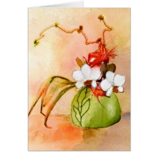 Carte de voeux faite sur commande florale