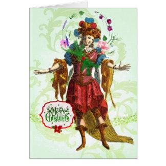 Carte de voeux féerique de Noël