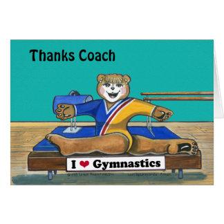 Carte de voeux femelle de gymnaste pour