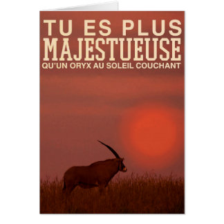 Carte de vœux Fête des mères - Oryx
