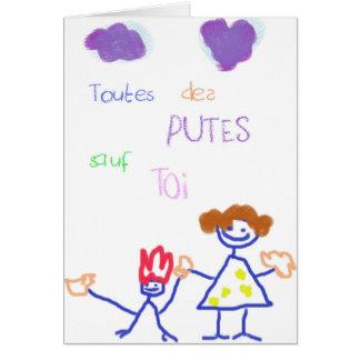 Carte de vœux Fête des mères - Toutes des p*utes