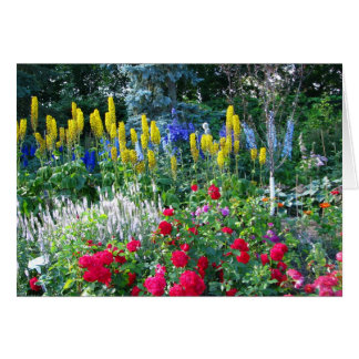 Carte de voeux florale de jardin anglais