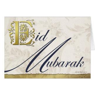 Carte de voeux florale d'Eid Mubarak