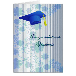 Carte de voeux florale d'obtention du diplôme