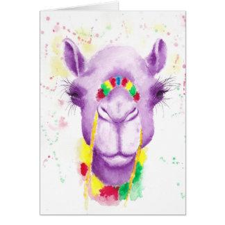 Carte de voeux folle de chameau