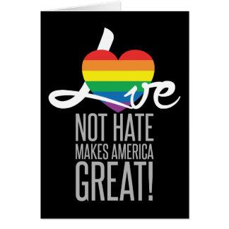 Carte de voeux foncée de haine d'amour pas