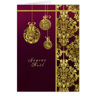 carte de voeux française de Joyeux Noël