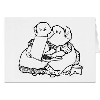 Carte de voeux futée de logo de capeline
