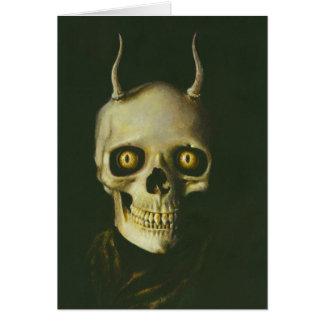 Carte de voeux gothique de crâne de diable