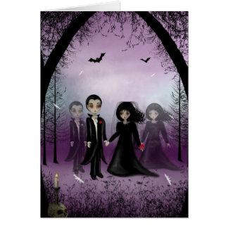 Carte de voeux gothique de mariage